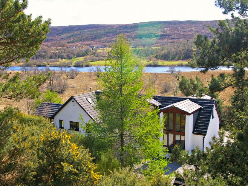 View of Ceol Mor B&B near to the Falls of Shin