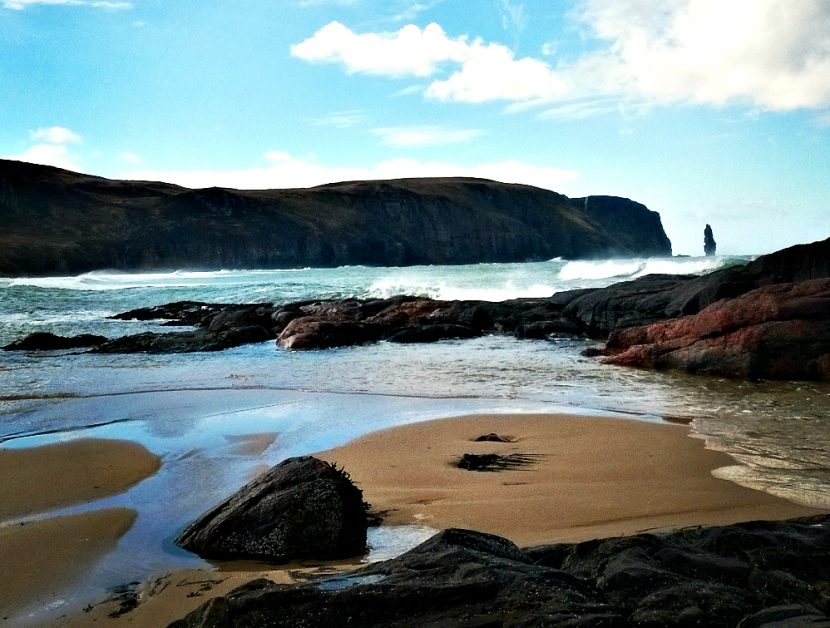 Sandwood Bay on a beautiful day