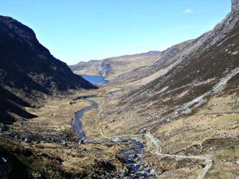 View to Loch Glendhu near Kylesku Assynt