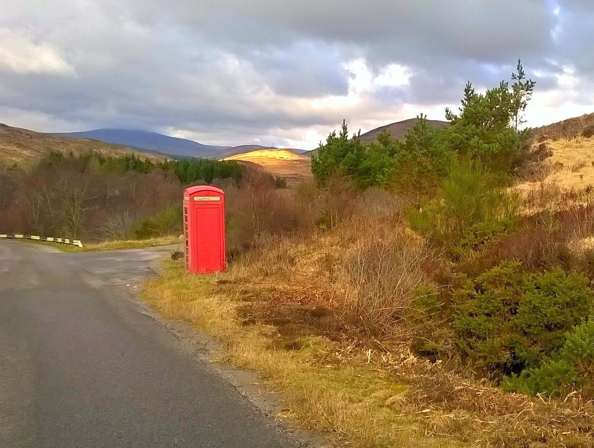 Phone box near Inchnadamph Sutherland