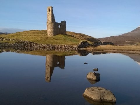 Ardvreck Castle one hour's drive from Ceol Mor B&B