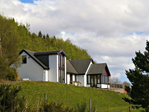 Ceol Mor B&B in a secluded setting looking east