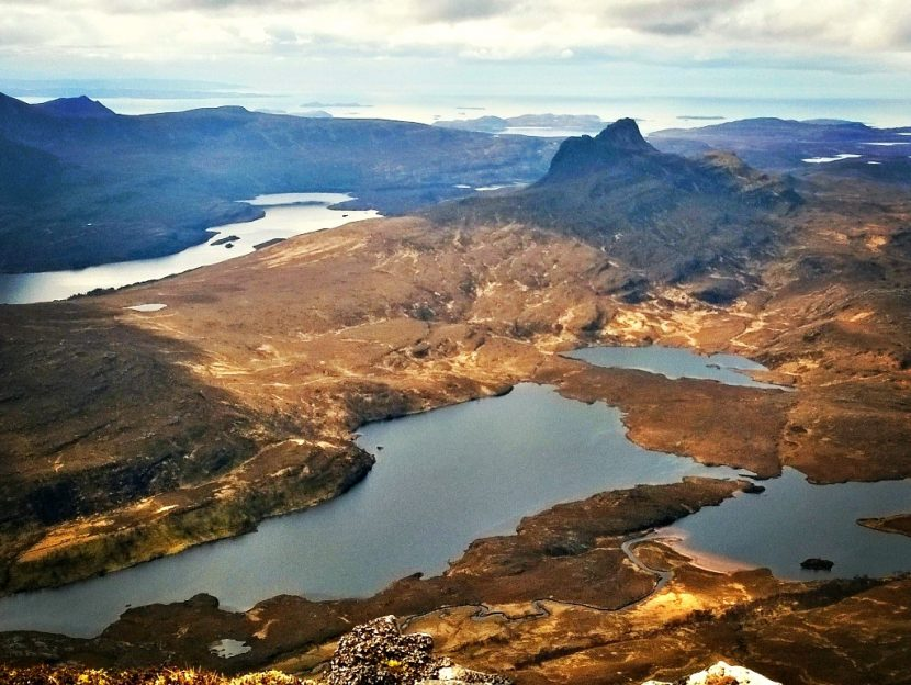 View from the Corbett Cul Mor over to the Summer Isles